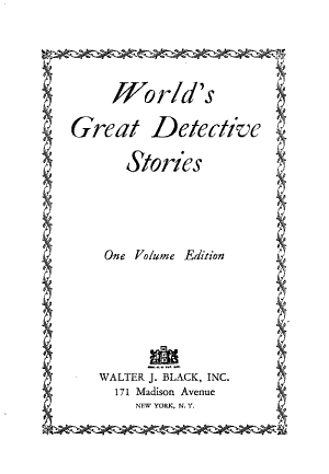World's Great Detective Stories