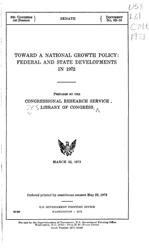 Toward a National Growth Policy PDF