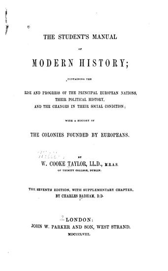 The Student s Manual of Modern History PDF