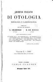 Archivio italiano di otologia, rinologia e laringologia: Volumi 1-2