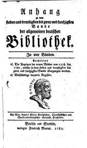 Allgemeine deutsche Bibliothek: Bände 37-52