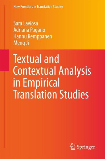 Textual and Contextual Analysis in Empirical Translation Studies PDF