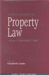 Modern Studies in Property Law -: Volume 1