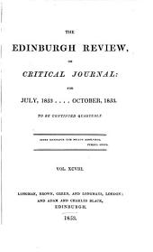 The Edinburgh Review: Or Critical Journal, Volume 98