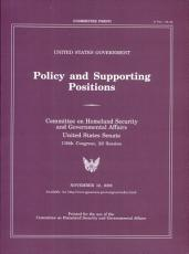 Policy and Supporting Positions