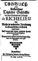 Tagebuch des Hrn  Card  de Richelieu PDF