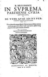 De Verborum quae ad Jus Pertinent Significatione: Libri XIX.