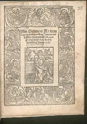 Ain Sermon an dem Tag des hayligen Sant Johannes des Taffers Jhesu Christi