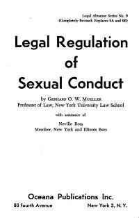 Legal Regulation of Sexual Conduct