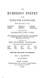The Humorous Poetry of the English Language, from Chaucer to Saxe