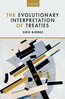 The Evolutionary Interpretation of Treaties PDF