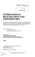 International Health Costs and Expenditures PDF