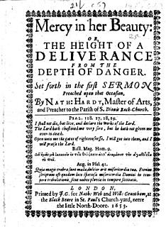 Mercy in Her Beauty  Or  The Height of a Deliverance from the Depth of Danger Book