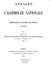 Annales de l'assemblée nationale: compte-rendu in extenso des séances annexes, Volume21