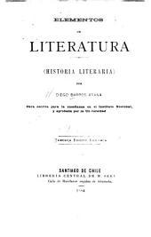 Elementos de literatura: historia literaria