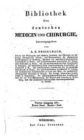 Bibliothek der deutschen Medicin und Chirurgie: Band 1;Band 4
