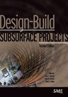 Design Build Subsurface Projects PDF