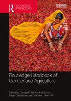 Routledge Handbook of Gender and Agriculture PDF