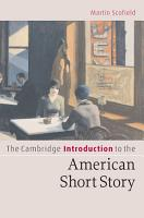 The Cambridge Introduction to the American Short Story PDF