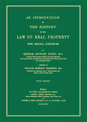 An Introduction to the History of the Law of Real Property