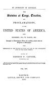 The Statutes At Large Treaties And Proclamations Of The United States Of America From