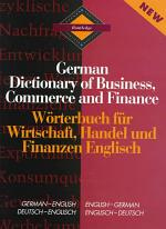 Routledge German Dictionary of Business, Commerce, and Finance