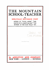 The Mountain School-teacher