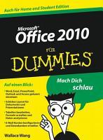 Office 2010 f  r Dummies PDF