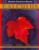 Student Solutions Manual to accompany Calculus  Single and Multivariable  Sixth Edition