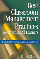 Best Classroom Management Practices for Reaching All Learners PDF