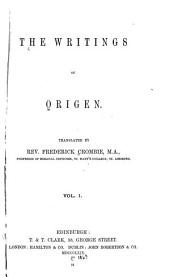 The Writings of Origen: Volume 10