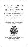 Catalogue des livres de la Biblioth  que de feu M  le Duc de la Valli  re PDF
