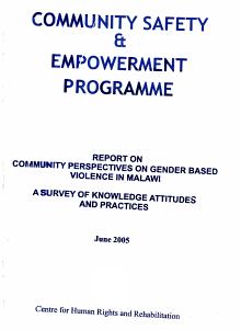 Report on Community Perspectives on Gender Based Violence in Malawi PDF