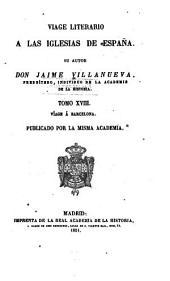 Viage literario á las iglesias de España: Volumen 18