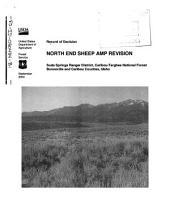 Caribou-Targhee National Forest (N.F.), North End Sheep AMP Revision: Environmental Impact Statement