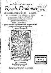 Posteriorum trium de Stirpium historia commentariorum imagines