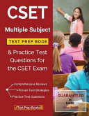 CSET Multiple Subject Test Prep Book   Practice Test Questions for the CSET Exam