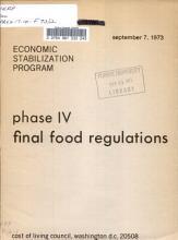 Phase IV Final Food Regulations PDF