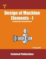 Design of Machine Elements   I PDF