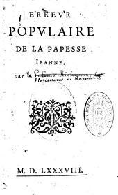 Erreur populaire de la papesse Jeanne