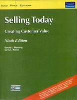 Selling Today  Creating Customer Value  9 e PDF