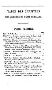 Mémoires inédits de l'abbé Morellet ...: sur le dix-huitième siècle et sur la révolution, Volume1