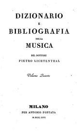 Dizionario e bibliografia della musica: Volume 4