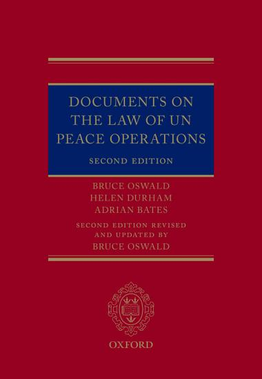 Documents on the Law of UN Peace Operations PDF