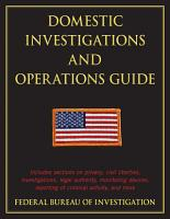Domestic Investigations and Operations Guide PDF