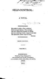 Self-control: A Novel, Volume 1