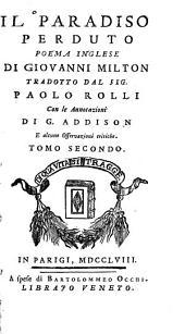 Il paradiso perduto: poema inglese, Volume 2
