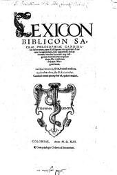 Lexicon Biblicon Sacrae Philosophiae Candidatis elaboratum