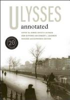 Ulysses Annotated PDF