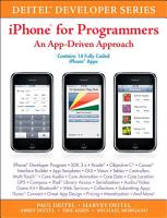 iPhone for Programmers PDF